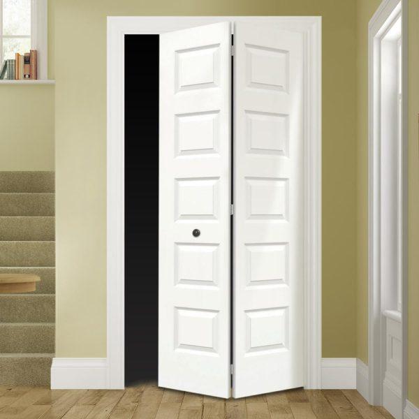 Rockport Primed Smooth Molded Composite MDF Closet Bi-Fold Door