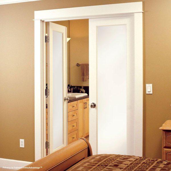 1 Lite Frosted Primed Interior Door Slab