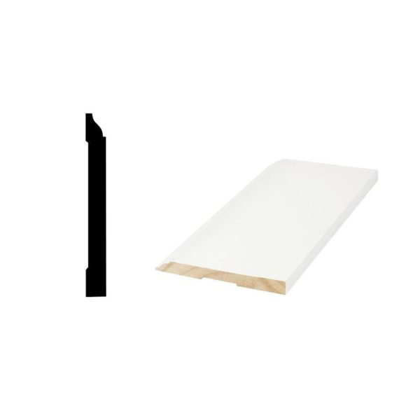 Primed Finger-Jointed Base Molding WM 618 - 9/16 in. x 5-1/4 x 16ft in.