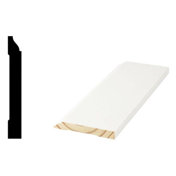Primed Finger-Jointed Base Molding WM 620 9/16 in. x 4-1/4 in. x 16ft.