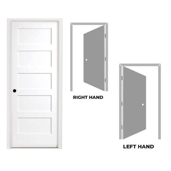 5 Panel Shaker Prehung Interior Door